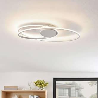 Lindby Xenias lámpara LED de techo, blanco 60x35cm