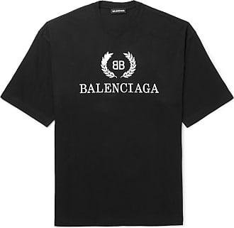 27812a5e7 Balenciaga Oversized Logo-print Cotton-jersey T-shirt - Black