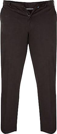 Duke London D555 New Kingsize Mens Stretch Chino Pant Trouser with Extenda Waist 60 x 34 Black