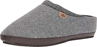 Freewaters Mens Jeffrey House Shoe Slipper w/Happy Arch Support and Durable Indoor/Outdoor Sole, Heather Grey, S Medium US