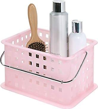InterDesign InterDesign Storage Organizer Basket, for Bathroom, Health and Beauty Products - Small, Blush