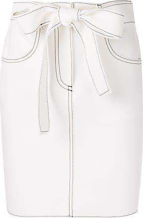 000e99b32c06 Msgm contrast stitch skirt - White