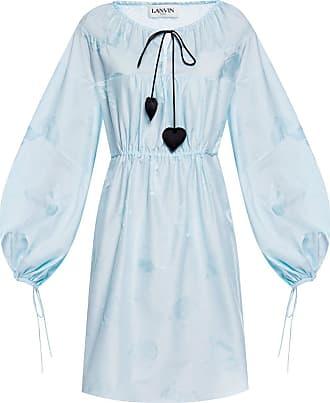 Lanvin Tie-up Dress Womens Light Blue