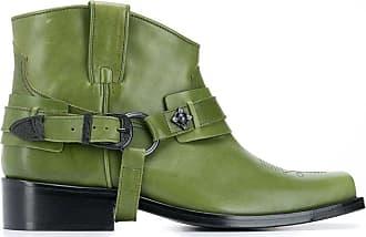 Toga Archives Ankle boot de bico quadrado - Verde