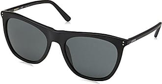 DKNY Womens Acetate Woman Sunglass Square, BLACK, 57.0 mm