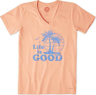 a8b3647680c Life is good Womens Vintage Palms Crusher Vee XXL Fresh Coral