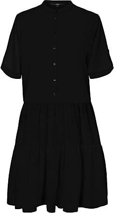 Vero Moda Womens Vmdelta 2/4 Abk Dress WVN Ga Ki Noos, Black, M