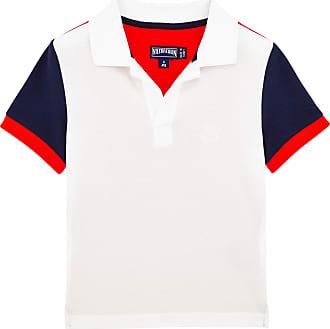 Vilebrequin Boys Ready to Wear - Boys Cotton Pique Polo shirt Multicolor - POLO - PANTIN - Blue - 12 - Vilebrequin