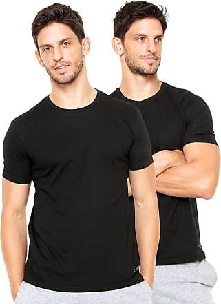 8d651ccdfe Calvin Klein Underwear Kit 2pçs Camiseta Calvin Klein Underwear Liso Preto