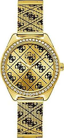 Guess Relógio Feminino Guess Aço Dourado 92760LPGTDA1 Analógico Pulseira Esteirinha com a Letra G
