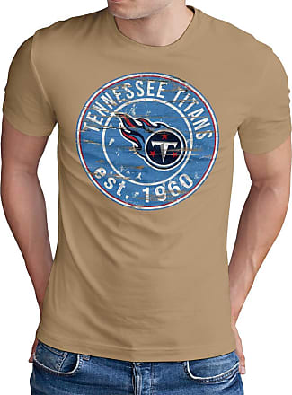 OM3 Tennesse-Badge - T-Shirt | Mens | American Football Shirt | L, Khaki