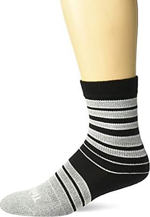 330c3446f Thorlos Thorlos Unisex-Adults Stripes Thin Padded Casual Fashion Crew Socks,  grey/black