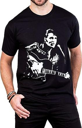 Bandalheira Camiseta Elvis Presley Violão e Microfone Gola c/Elastano