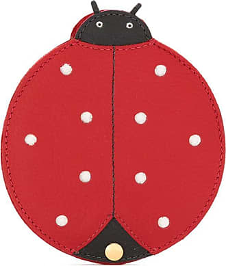 Sarah Chofakian Specchietto portatile con custodia - Di colore rosso