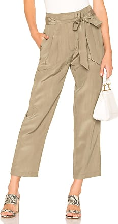 J.O.A. Tie Waist Cropped Pant in Army