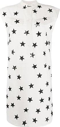 8pm star print dress - White