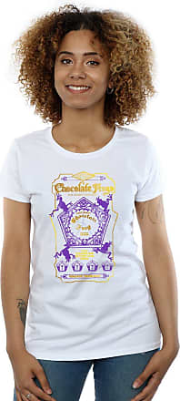 Harry Potter Womens Chocolate Frogs Coloured Label T-Shirt Small White