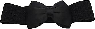 Generic Fashion Women Bowknot Bow Wide Stretch Buckle Waistband Waist Belt - Black, One size