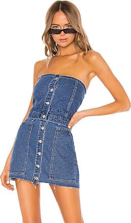 Kendall + Kylie Fashion Denim Bustier in Medium Wash