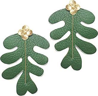 Tinna Jewelry Brinco Dourado Costela De Adão (Verde)