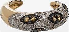 Yvonne Léon Womens Metallic 18k Yellow Gold Diamond Ear Cuff