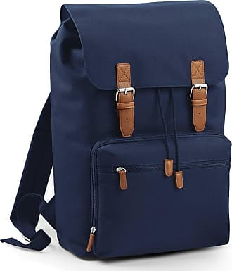 BagBase Vintage Laptop Backpack by BagBase - 3 Colours Avilable, Black, French Navy