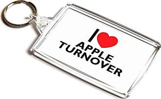 ILoveGifts KEYRING - I Love Apple Turnover - Novelty Food & Drink Gift