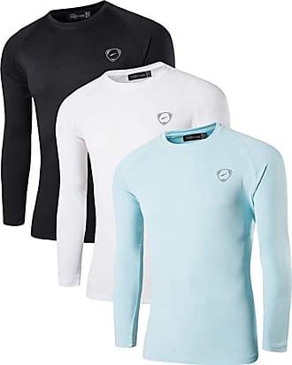 Jeansian Mens 3 Packs UPF 50+ UV Sun Protection Outdoor T-Shirt LA245 PackD M