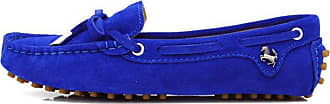 MGM-Joymod Ladies Womens Casual Slip-on Knot RoyalBlue Suede Leather Walking Driving Loafers Flats Moccasins Hiking Shoes 6.5 M UK