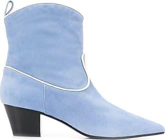 L'autre Chose Ankle boot com salto 55mm - Azul