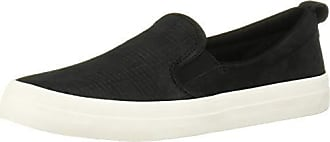 Sperry Top-Sider Womens Crest Slip ON Woven Emboss Shoe, Black, 10 M US