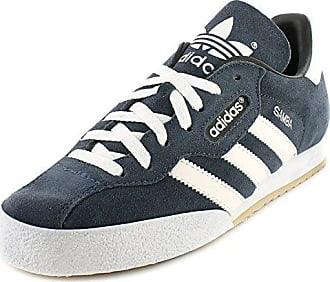 49ec65de180562 adidas Adidas Samba Super Herren Wildleder Leder Indoor Fußball Schuhe -  Marineblau Wildleder   Weiß -