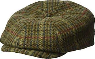 Brixton Mens Brood Newsboy Snap Hat, Moss/Navy, XS