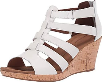 Rockport Womens Briah Gladiator Sandal, White Leathe, 7.5 M US