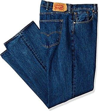 Levi's Mens Big and Tall Big & Tall 501 Original Shrink-to-Fit Jean, Dark Stonewash 58W x 34L