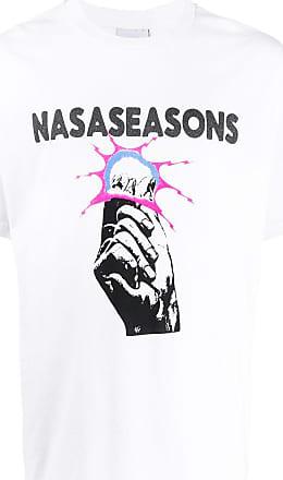 Nasaseasons Camiseta com estampa gráfica - Branco
