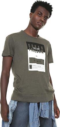 Triton Camiseta Triton Estampada Cinza/Bege