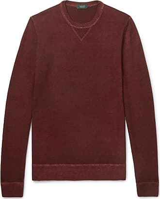 Incotex Slim-fit Mélange Virgin Wool Sweater - Red
