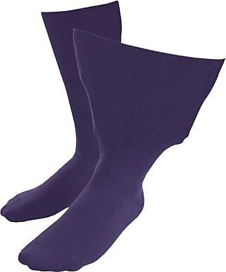 SockShop Iomi Footnurse - Mens & Womens Unisex Extra Wide Soft Cotton Oedema Socks for Swollen Feet (4-7 UK (37-42 eur), Purple)