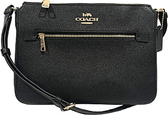 Coach Gallery Signature File Bag Crossbody Black Size: Medium
