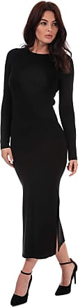 French Connection Womens Womens Jersey Midi Dress in Black - 12