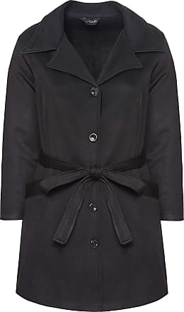 Yours Clothing Clothing Womens Plus Size Revere Collar Jersey Coat Size 26-28 Black