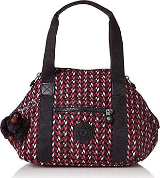 37612d59a Kipling Art Mini, Bolsos maletín Mujer, Mehrfarbig (Pink Chevron), 34x21x18.