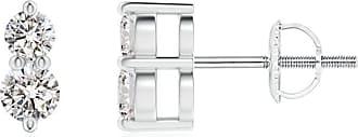 Angara Valentine Day Sale - Classic Two Stone Diamond Earrings