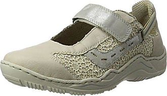 09feb3ca3262 Rieker Damen L0578 Sneakers, Weiß (Offwhite beige Silber   80),