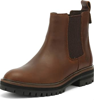 547a97105f21 Timberland Womens London Square Chelsea Leather Walking Winter Ankle Boot -  Dark Rubber - 6 Brown