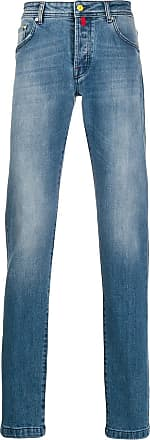 Kiton Ausgeblichene Skinny-Jeans - Blau