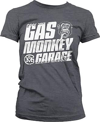 Gas Monkey Garage Officially Licensed Tire Tracks T-Shirt (Dark-Heather), XXL