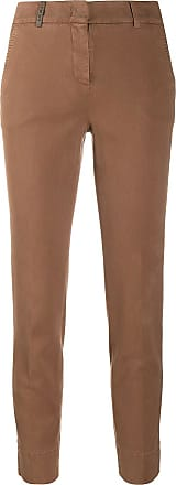 PESERICO slim-fit tailored trousers - Marrom