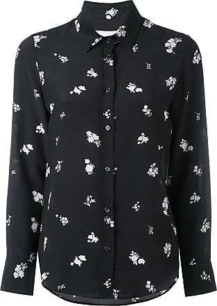 Golden Goose Camisa de seda floral - Preto